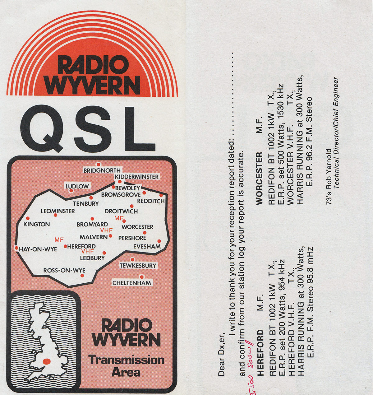 Radio Wyven QSL card
